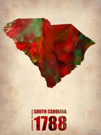 South Carolina Watercolor Map