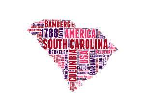 South Carolina Word Cloud Map by NaxArt