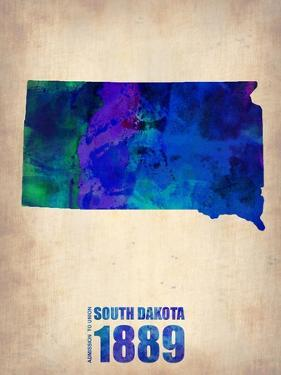 South Dakota Watercolor Map by NaxArt