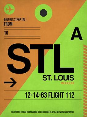 STL St. Louis Luggage Tag I by NaxArt