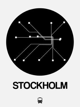 Stockholm Black Subway Map by NaxArt