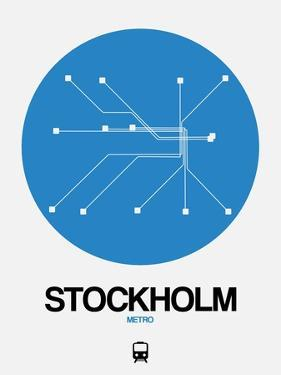 Stockholm Blue Subway Map by NaxArt