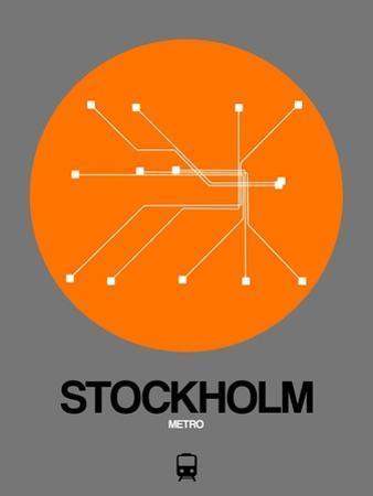 Stockholm Orange Subway Map by NaxArt