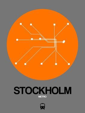 Stockholm Orange Subway Map by NaxArt