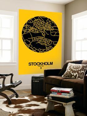 Stockholm Street Map Yellow by NaxArt
