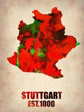 Stuttgart Watercolor Poster by NaxArt