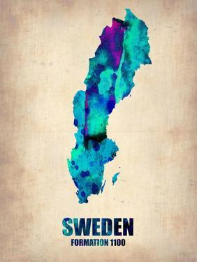 Sweden Watercolor Poster by NaxArt