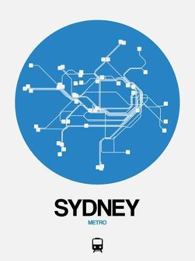 Sydney Blue Subway Map by NaxArt