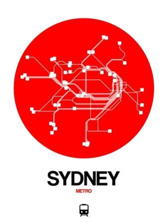 Sydney Red Subway Map by NaxArt