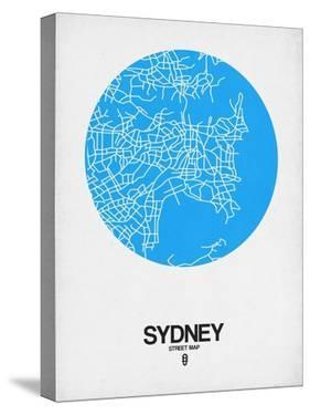 Sydney Street Map Blue by NaxArt