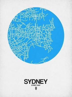 Sydney Street Map Blue by NaxArt