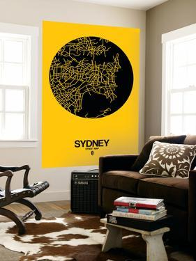 Sydney Street Map Yellow by NaxArt