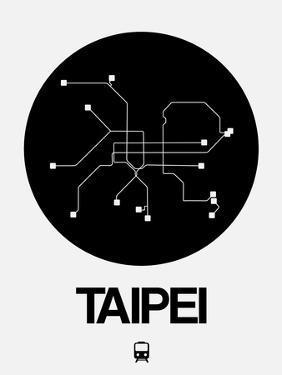 Taipei Black Subway Map by NaxArt