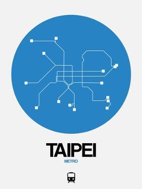 Taipei Blue Subway Map by NaxArt