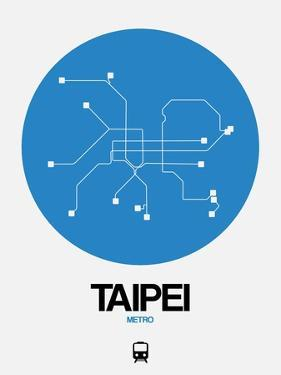 Taipei Blue Subway Map by NaxArt