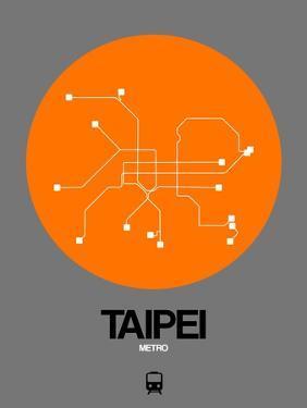 Taipei Orange Subway Map by NaxArt
