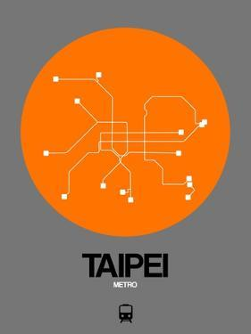 Taipei Orange Subway Map by NaxArt