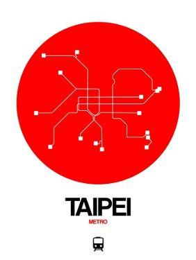 Taipei Red Subway Map by NaxArt