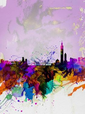 Taipei Watercolor Skyline by NaxArt