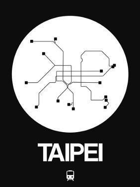 Taipei White Subway Map by NaxArt