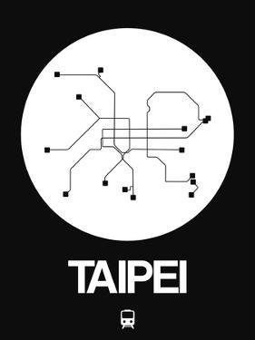 Taipei White Subway Map by NaxArt