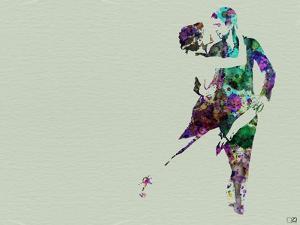 Tango Dancers Watercolor by NaxArt