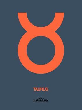 Taurus Zodiac Sign Orange by NaxArt