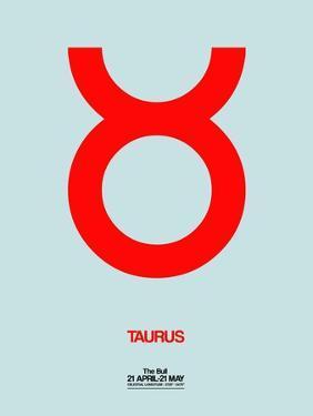 Taurus Zodiac Sign Red by NaxArt