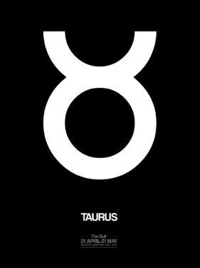 Taurus Zodiac Sign White by NaxArt