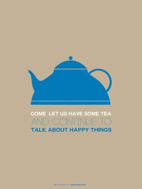 Tea Poster Blue by NaxArt