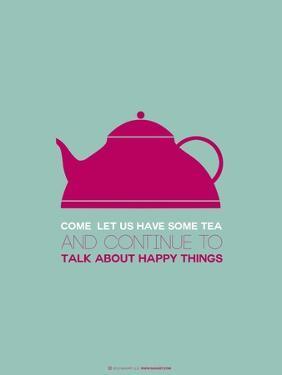 Tea Poster Pink by NaxArt