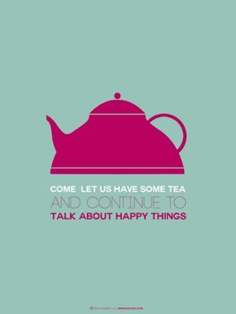 Tea Poster Pink by NaxArt