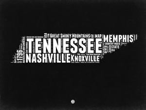 Tennessee Black and White Map by NaxArt