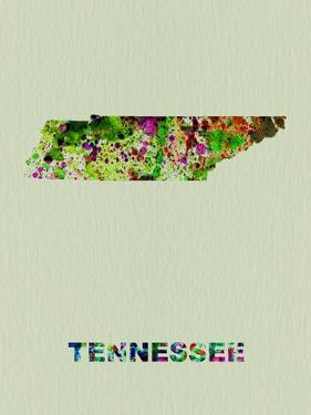 Tennessee Color Splatter Map by NaxArt