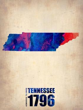 Tennessee Watercolor Map by NaxArt