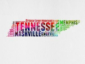 Tennessee Watercolor Word Cloud by NaxArt