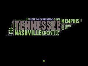 Tennessee Word Cloud 1 by NaxArt