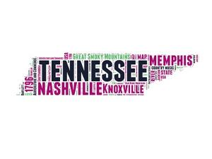 Tennessee Word Cloud Map by NaxArt