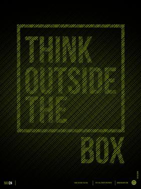 Think Outside of The Box Poster by NaxArt