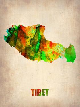 Tibet Watercolor Map by NaxArt