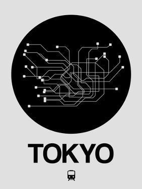Tokyo Black Subway Map by NaxArt