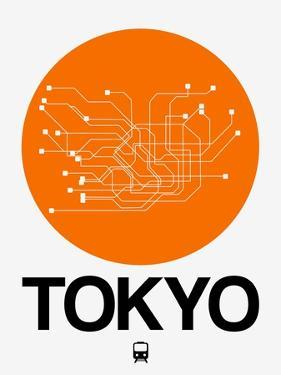 Tokyo Orange Subway Map by NaxArt