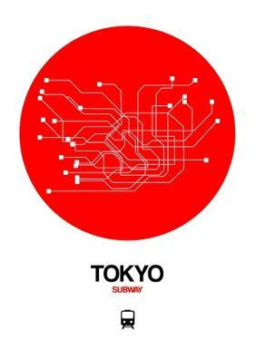 Tokyo Red Subway Map by NaxArt