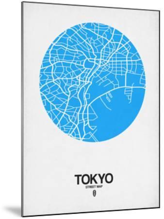 Tokyo Street Map Blue by NaxArt