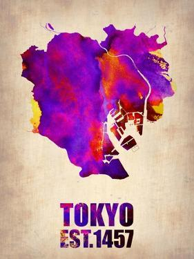 Tokyo Watercolor Map 2 by NaxArt