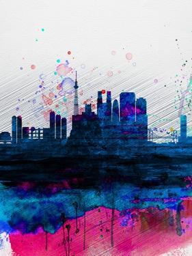 Tokyo Watercolor Skyline by NaxArt