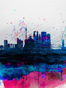 Tokyo Watercolor Skyline by NaxArt