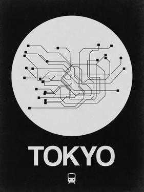 Tokyo White Subway Map by NaxArt