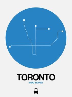 Toronto Blue Subway Map by NaxArt