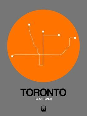 Toronto Orange Subway Map by NaxArt